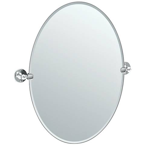 "Gatco Cafe Chrome 24"" x 26 1/2"" Oval Vanity Mirror"