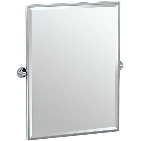 "Gatco Cafe Chrome 28 1/4"" x 32 1/2"" Rectangle Vanity Mirror"