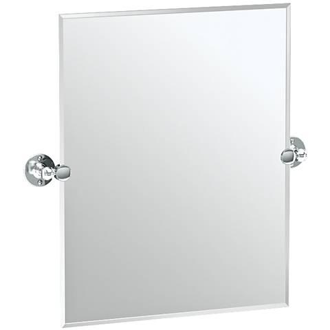 "Gatco Cafe Chrome 23 1/2"" x 24"" Rectangular Vanity Mirror"