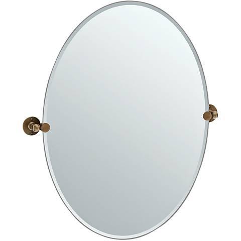 "Gatco Cafe Bronze 28 3/4"" x 32"" Large Oval Vanity Mirror"