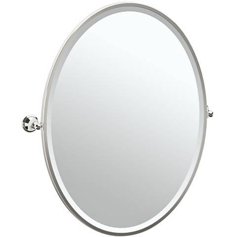 "Gatco Laurel Polished Nickel 28 3/4"" x 33"" Vanity Mirror"