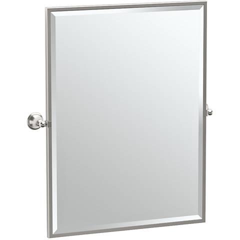"Gatco Laurel Satin Nickel 28 1/4"" x 32 1/2"" Vanity Mirror"