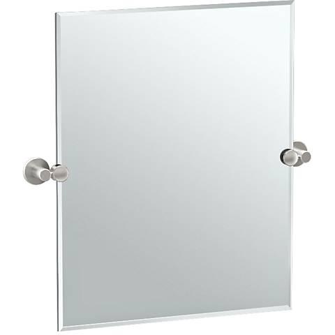 "Gatco Channel Satin Nickel 24"" x 24"" Vanity Mirror"