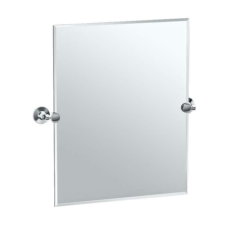 "Gatco Max Chrome 23 1/2"" x 24"" Rectangular Vanity Mirror"
