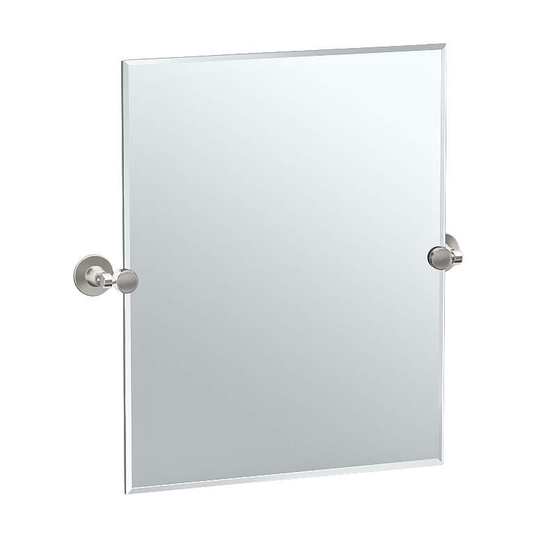 "Gatco Max Satin Nickel 23 1/2"" x 24"" Rectangular Wall Mirror"