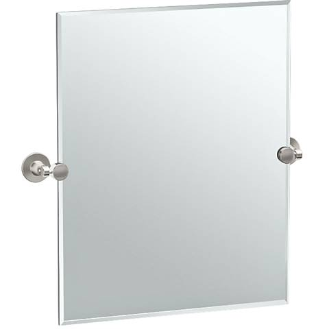 "Gatco Max Satin Nickel 23 1/2"" x 24"" Rectangular Mirror"