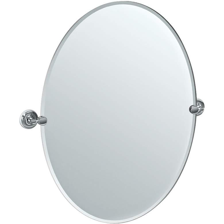 "Gatco Designer II Chrm 28 1/2"" x 32"" Oval Vanity Mirror"