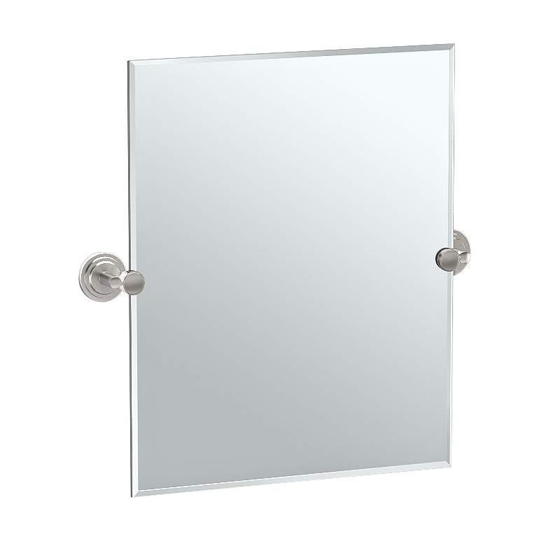 "Gatco Marina Satin Nickel 24 3/4"" x 24"" Vanity Wall Mirror"