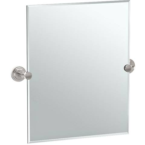 "Gatco Marina Satin Nickel 24 3/4"" x 24"" Vanity Mirror"