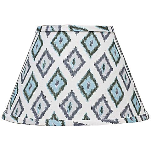Aqua Gray Diamonte Empire Lamp Shade 6x12x8 (Spider)