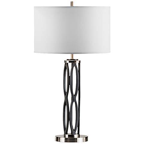 Nova August Charcoal Modern Table Lamp