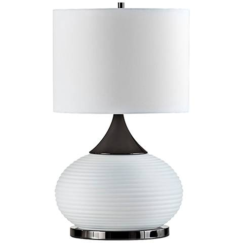 Nova Genie White Frosted Glass Table Lamp
