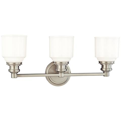 "Hudson Valley Windham 22 1/2""W Satin Nickel Bath Light"