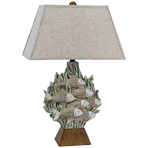 Falmouth Tropical Fish Sand Seaweed Table Lamp