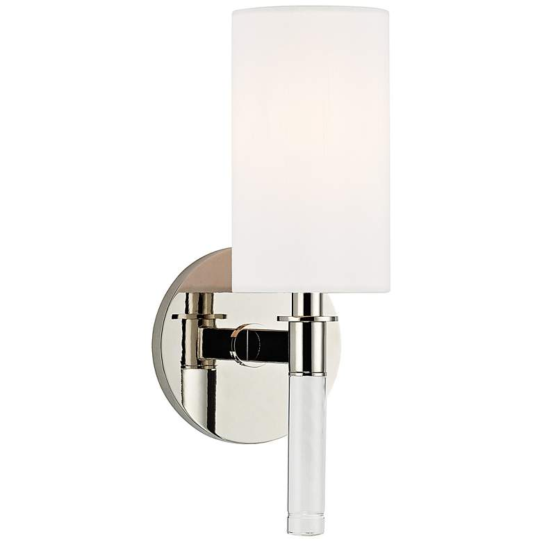 "Hudson Valley Wylie 12"" High Polished Nickel Wall Sconce"