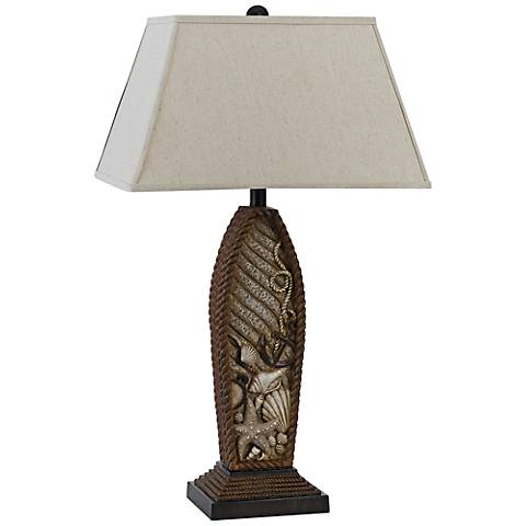 Pompano Distressed Rope Table Lamp
