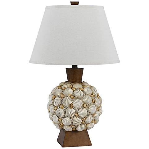 falmouth seashell table lamp 7y587 lamps plus