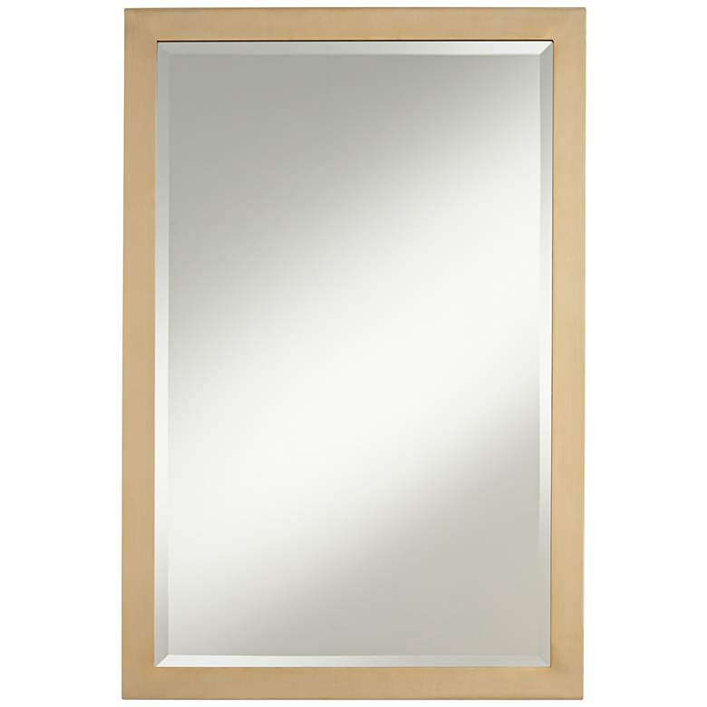 "Possini Euro Metzeo French Brass 22"" x 33"" Wall Mirror"