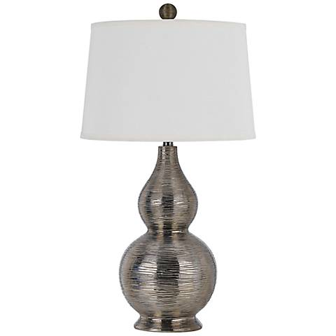 Desiree Contour Metallic Silver Table Lamp