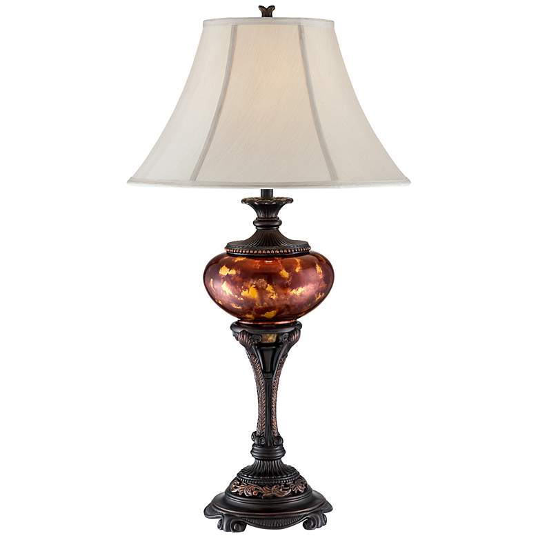 Liam Tortoise Glass Font Urn Table Lamp
