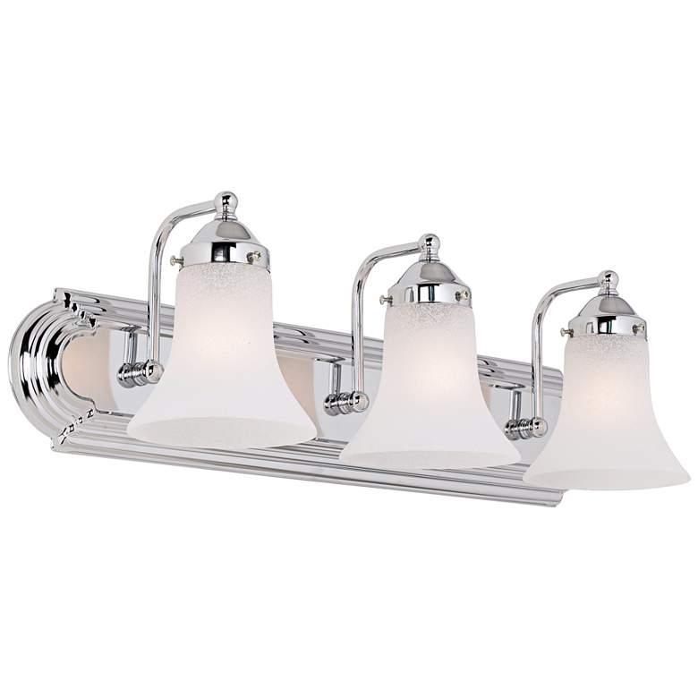 "Volusia 24"" Wide Polished Chrome 3-Light Bath Vanity Light"