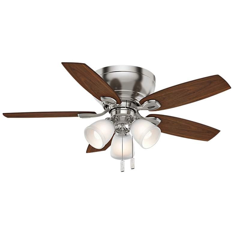 """44"""" Casablanca Durant Brushed Nickel LED Hugger Ceiling Fan"""