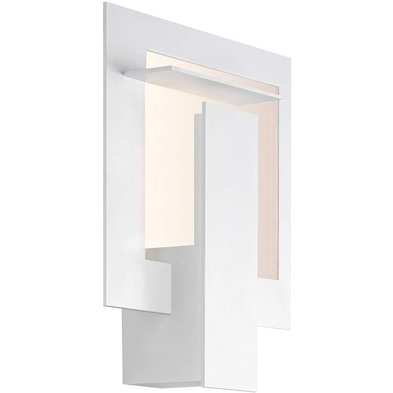 "Sonneman Portal 10 3/4""H Textured White LED Wall Sconce"