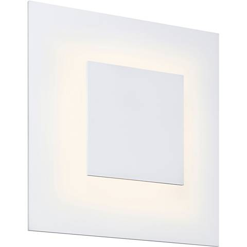 """Center Eclipse 8""""H Textured White LED Wall Sconce"""