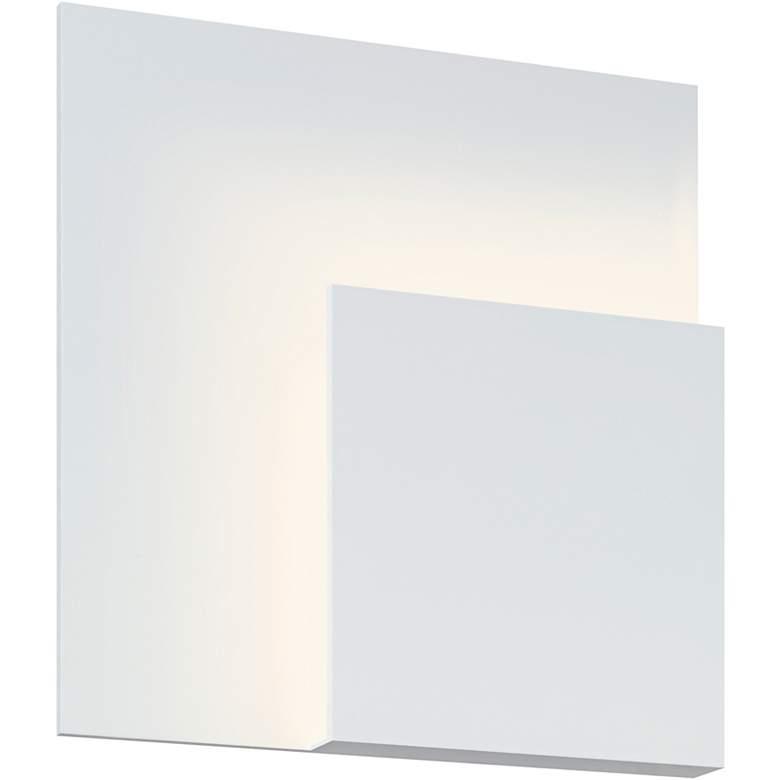 "Sonneman Corner Eclipse 8"" High Textured White LED Sconce"
