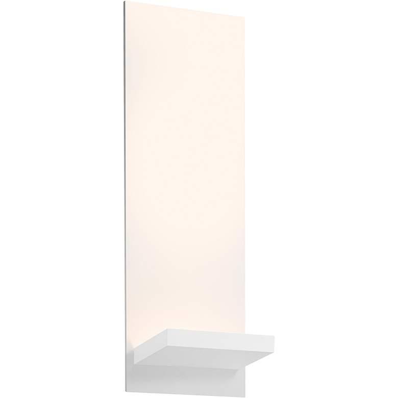 """Sonneman Panel Bracket 13 3/4""""H Textured White LED Sconce"""
