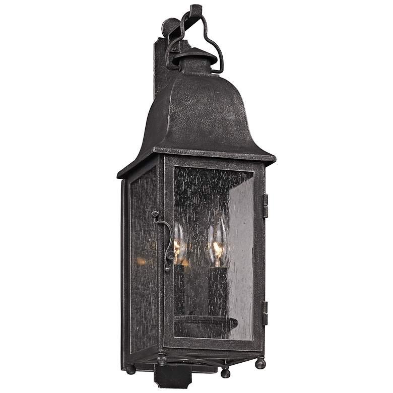 """Larchmont 19"""" High Aged Pewter Outdoor Wall Light"""