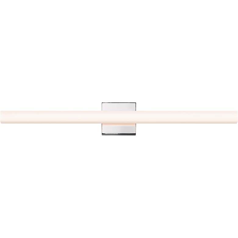 "Sonneman Sq-Bar 32"" Wide Polished Chrome LED Bath Light"