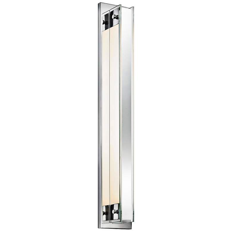 "Sonneman Accanto 28 1/2""H Chrome Wall Sconce w/ Clear Glass"