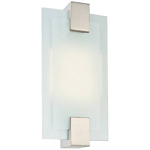 "Sonneman Dakota 14 1/2""H Satin Nickel Sconce"