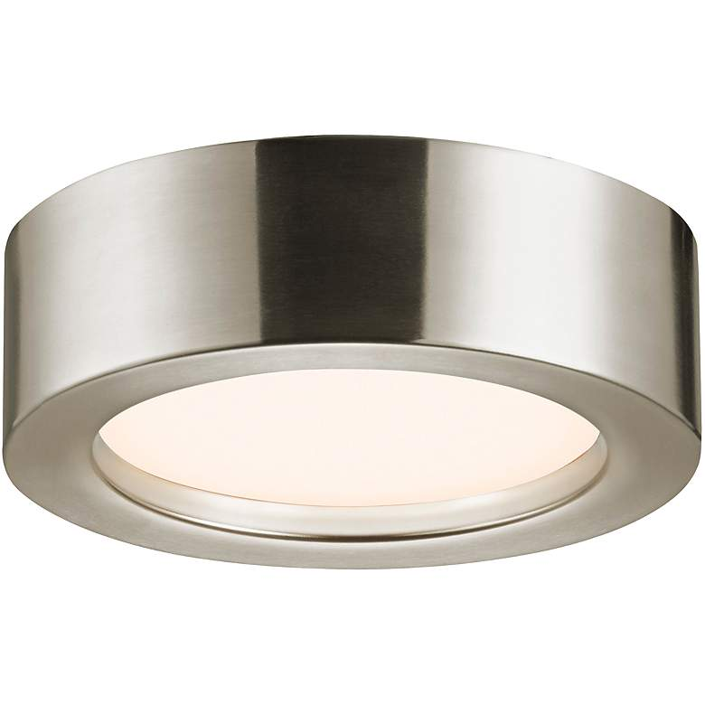 "Sonneman Puck Slim 8""W Satin Nickel LED Ceiling Light"