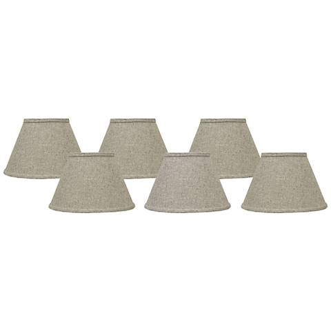 Siam Brown Set of 6 Empire Lamp Shades 4x6x5.25 (Clip-On)