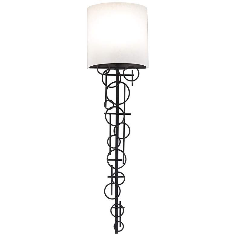 """George Kovacs Circles Collection 30"""" High Wall Sconce"""