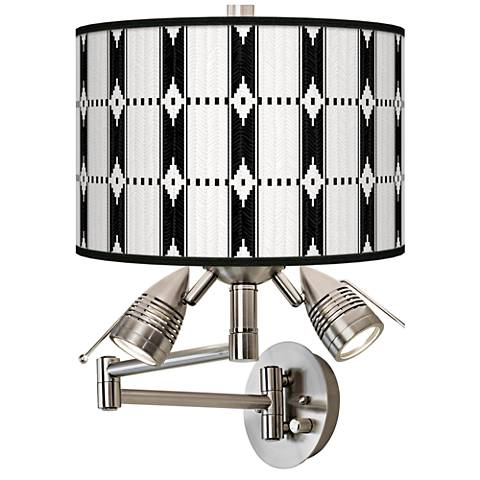 Tribal Weave Giclee Swing Arm Wall Lamp