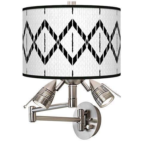 Paved Desert Giclee Swing Arm Wall Lamp