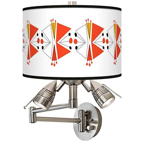 Lexiconic III Giclee Swing Arm Wall Lamp