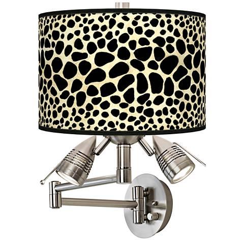 Leopard Giclee Swing Arm Wall Light