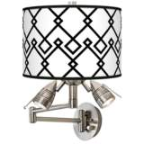 Diamond Chain Giclee Swing Arm Wall Lamp