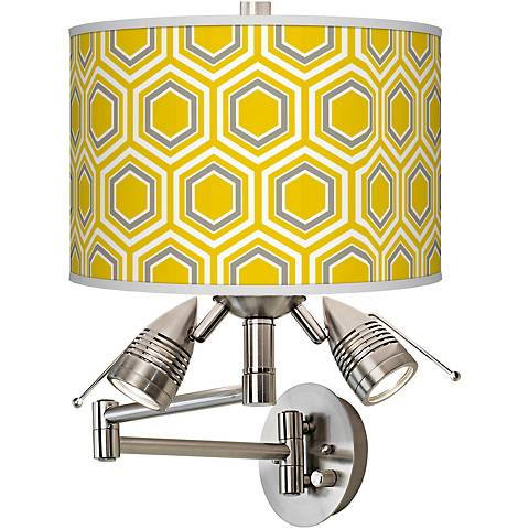 Honeycomb Giclee Swing Arm Wall Light