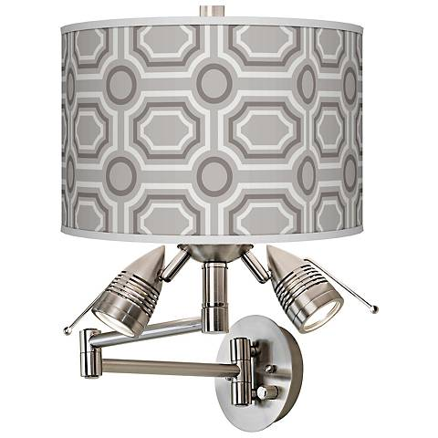 Luxe Tile Giclee Swing Arm Wall Light