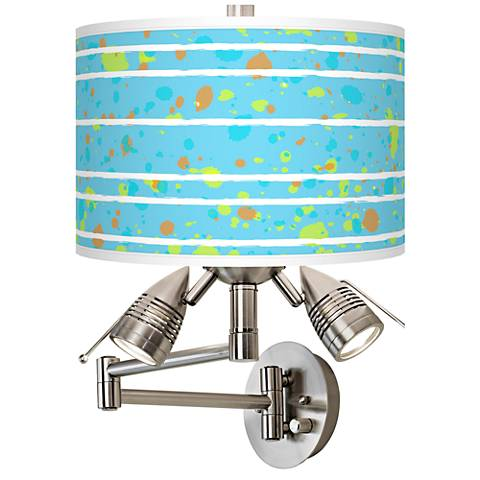 Paint Drips Giclee Swing Arm Wall Lamp