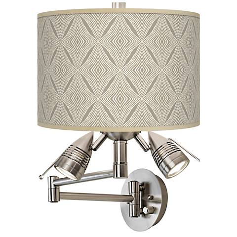 Moroccan Diamonds Giclee Swing Arm Wall Lamp