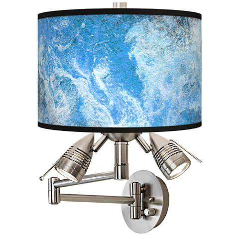 Ultrablue Giclee Swing Arm Wall Lamp