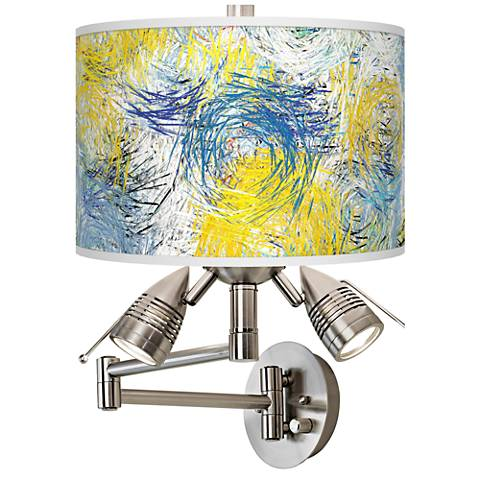 Starry Dawn Giclee Swing Arm Wall Lamp