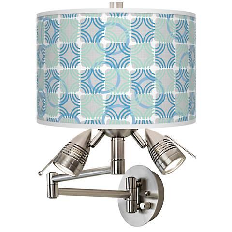 Deco Circles Giclee Swing Arm Wall Lamp