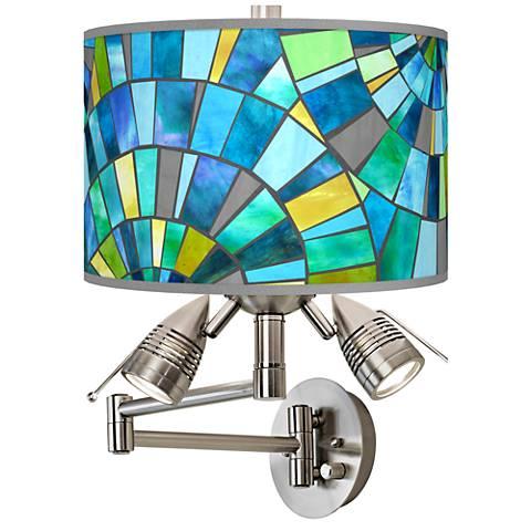 Lagos Mosaic Giclee Swing Arm Wall Lamp